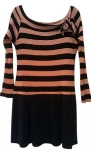 Wishes Wishes Wishes short dress Black and Pink Striped Edgy on Tradesy