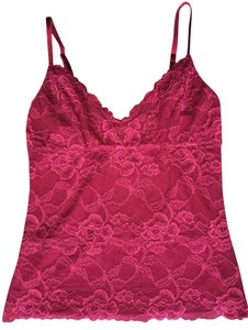 Banana Republic Lace Red Top Merlot