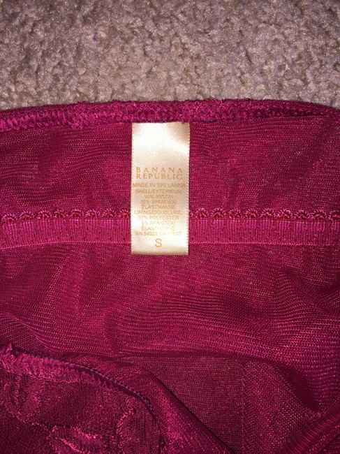 Banana Republic Lace Red Summer Top Merlot