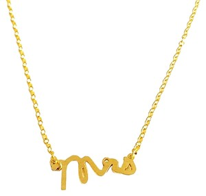 Other The Trophy Wife MRS Necklace 18k Gold Plated