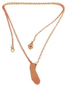 California Love Necklace 18k Rose Gold Plated