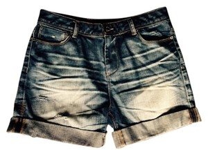insight Boyfriend Cut Off Shorts Distressed Jeans
