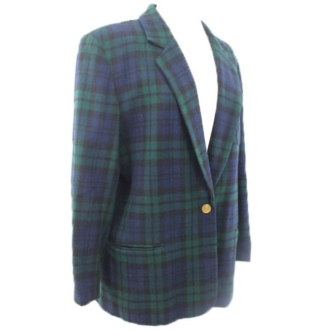 Herman Geist Woman Green And Blue Blazer