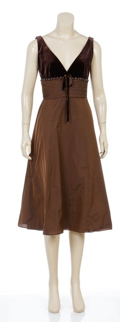 David Meister short dress Brown on Tradesy