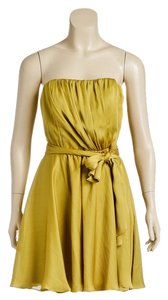 A.B.S. by Allen Schwartz short dress Yellow on Tradesy