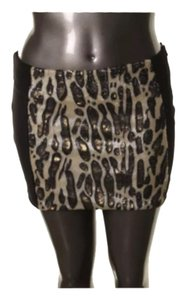 XOXO Skirt Black/sequined Leopard