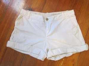 Banana Republic Cuffed Shorts White
