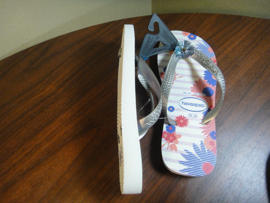 Havaianas Silver/Pink/white Flats