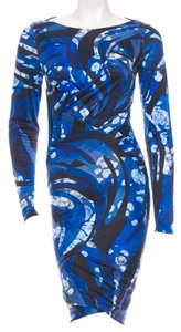 Emilio Pucci Silk Black White Dress