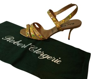 Robert Clergerie Golden Pearl Sandals