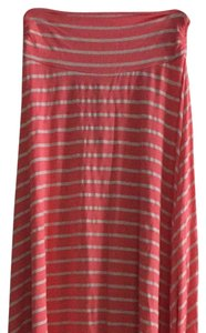 Renee C. Striped Knit Maxi Skirt Pink, Off-White