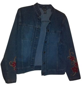 Kate Landry Blue Denim Womens Jean Jacket