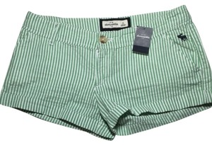 abercrombie kids Shorts Green And White Striped