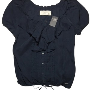 Abercrombie & Fitch Top Faded Navy