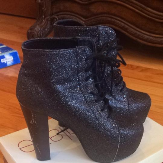 Other Black Glitter Boots