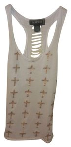 MMXIII Ripped Back Cross Top White