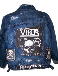 Wrangler Punk One Of Kind Punk Rock denim Womens Jean Jacket