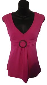Tempted Hearts Work Tie Belt Empire Waist Top Pink