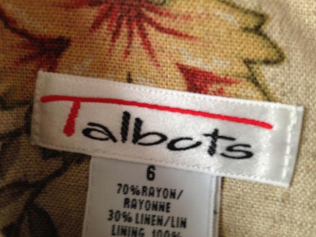 Talbots Size 6 Linen Rayon Colors Dress