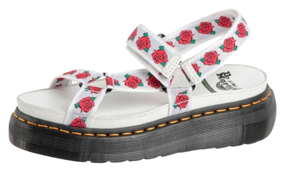 Dr martens white limited edition flower aggy sandals size us 7 dr martens limited edition flower aggy strap agyness deyn velcro floral white sandals mightylinksfo