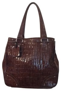 Liz Claiborne Reptile Alligator Crocodile Patent Leather Shoulder Bag