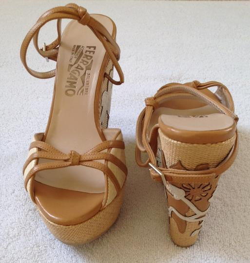 Salvatore Ferragamo Brown Wedges