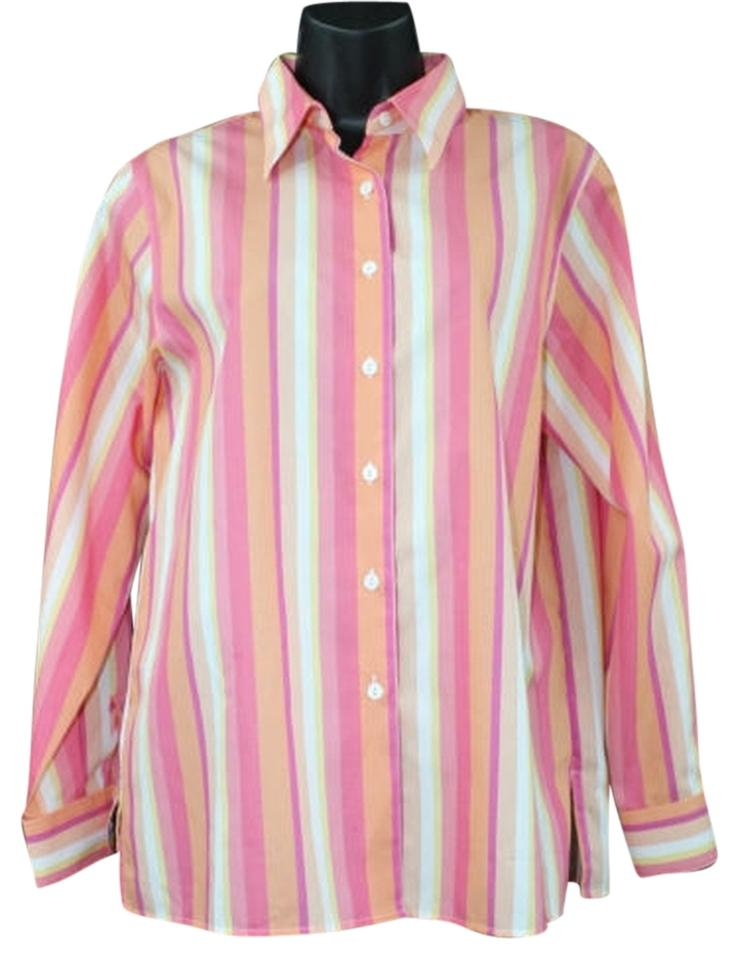 Foxcroft wrinkle free shirt 8p button down top size petite for Best wrinkle free shirts