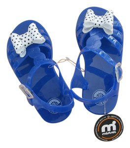 Mistral Bow Girl Jellies Blue Sandals
