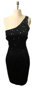 Express One Rhinestone Lbd Little Black Pockets Dress