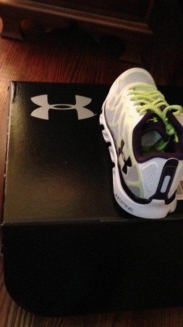 Item - White with Green and Purple Running New Neverworn Sneakers Size US 8 Regular (M, B)
