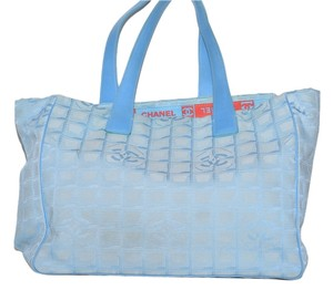 Chanel Light Blue Beach Bag
