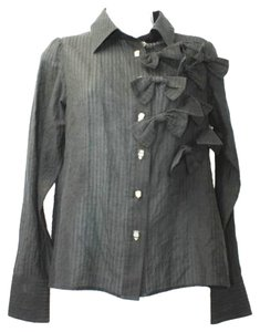 LOLA DE ALEJANDRO Black Button Down Shirt