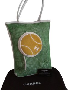Chanel Special Edition Tennis Collection in Green Beach Bag