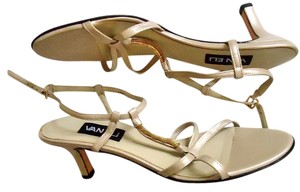 Vaneli Strappy Pearl Gold Hardware cream Formal