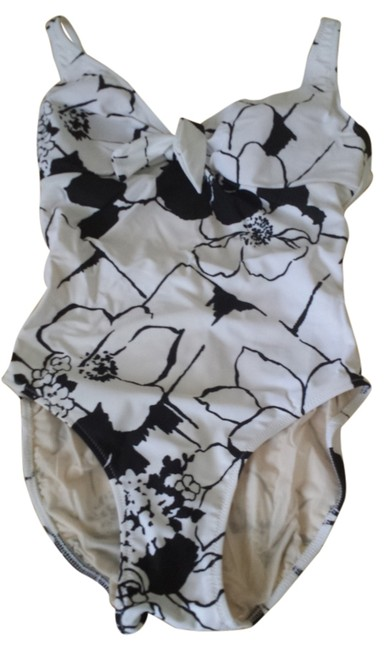 Item - White/Black New No Tags One-piece Bathing Suit Size 12 (L)