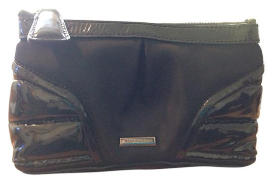 Burberry Cosmetic Nylon Patent Leather Nwot Black Clutch