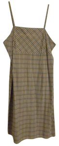 Xhilaration short dress Beige with black/white plaid on Tradesy