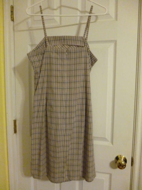 Xhilaration short dress Beige with black/white plaid Sundress on Tradesy
