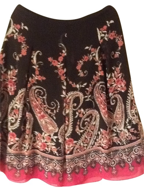 Item - Brown/Pink/Coral Skirt Size 14 (L, 34)