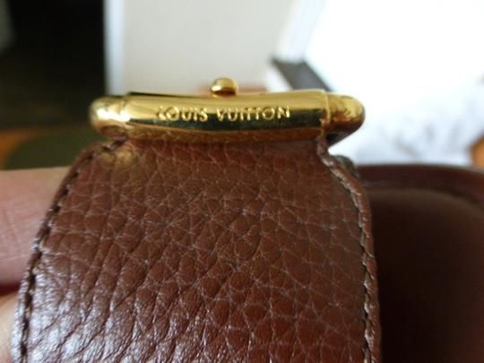 Louis Vuitton BROWN LEATHER & GOLD HARDWARE Flats