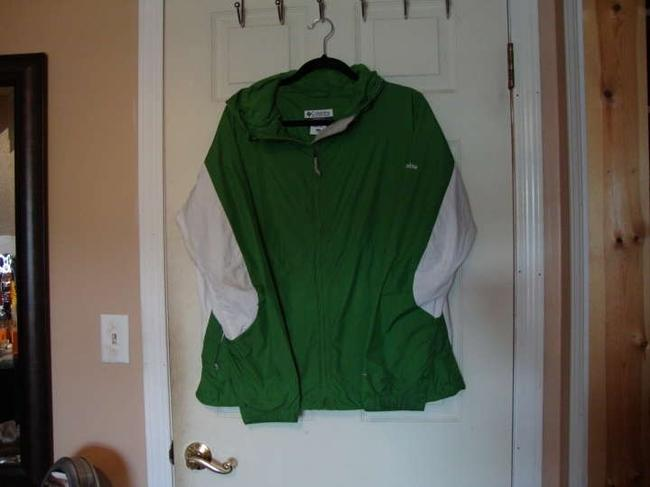 Columbia Green and White Jacket