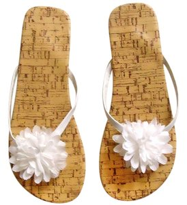 Other Cork Embellished Floral white Sandals