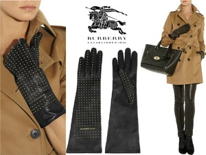 "Burberry Prorsum NEW BURBERRY Prorsum ""Nicola""100% Kidskin Leather Gloves Mini Studs 8"