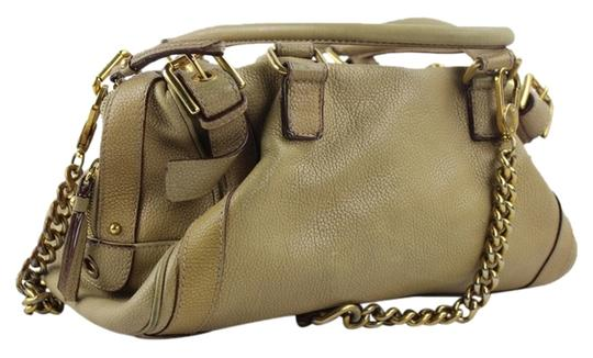 Preload https://item2.tradesy.com/images/dolce-and-gabbana-dolce-and-gabbana-beige-brown-gold-chain-dgml1-tan-leather-satchel-3087481-0-3.jpg?width=440&height=440