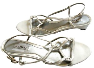 Alfani Silver Strappy Embellished white Sandals