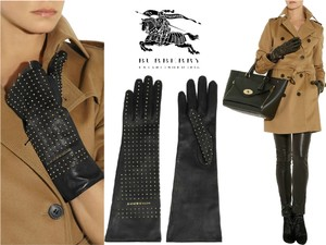 Burberry Prorsum NEW BURBERRY Prorsum 100% Kidskin Leather Gloves Mini Studs 7.5