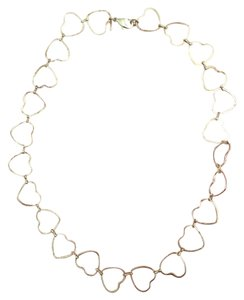 Avon Silver Heart Choker With Clasp
