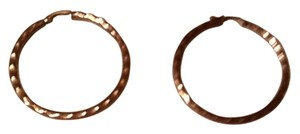 Large Copper Hoop Pierced Earrings