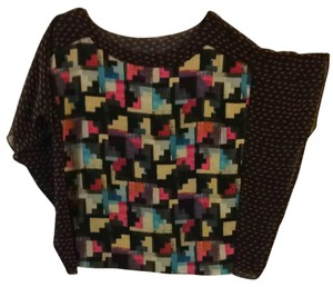 Rachel Roy Top Black Multi