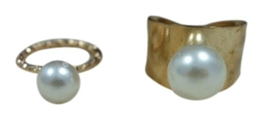 "Other ""Pearl it up"" Knuckle ring and one Adjustable ring"
